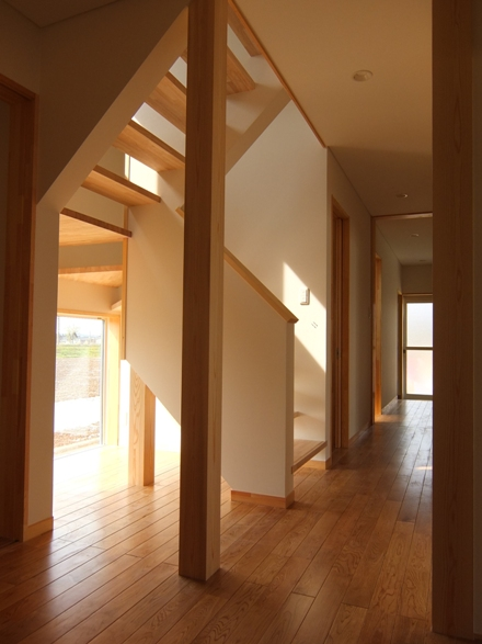 遊佐町の家1・階段ホール